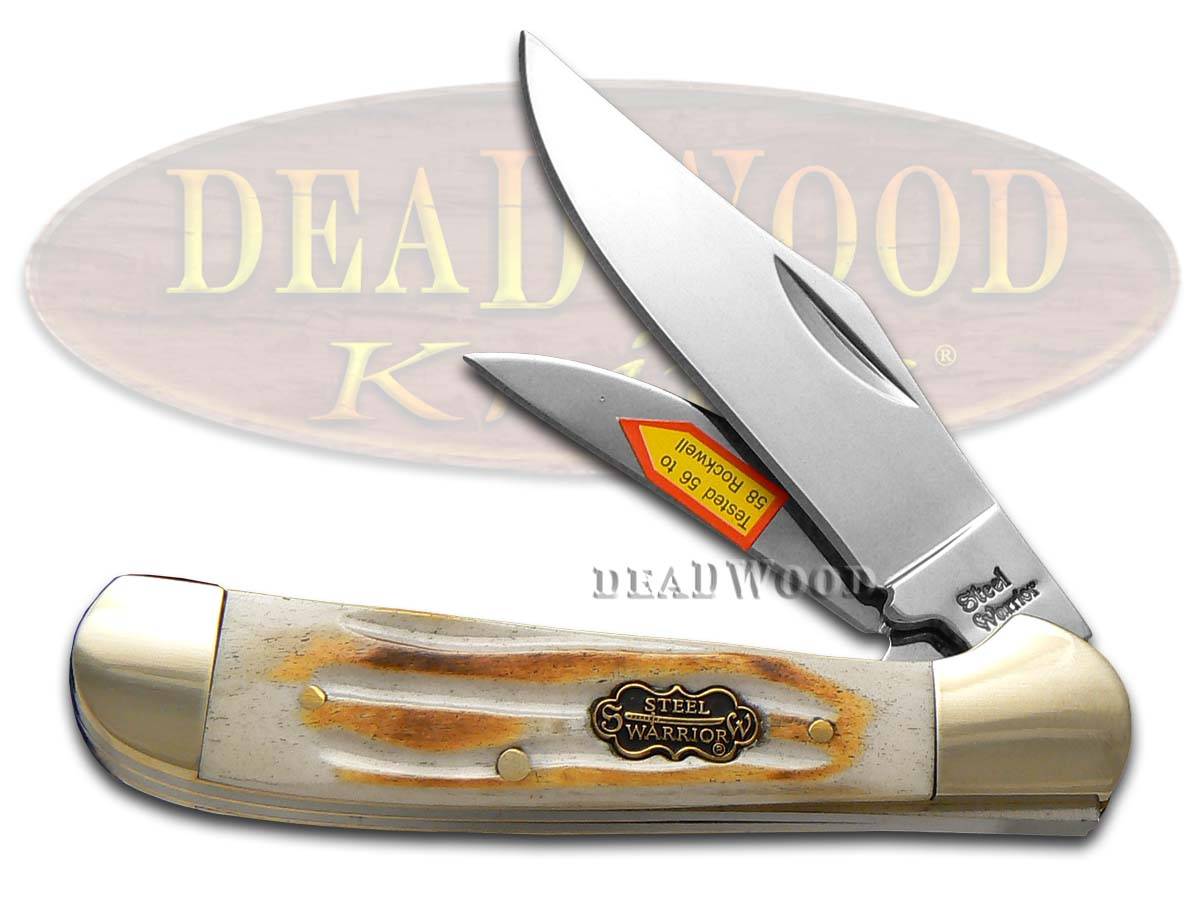Steel Warrior Second Cut Bone Locking Copperhead Stainless Steel Pocket Knife Knives