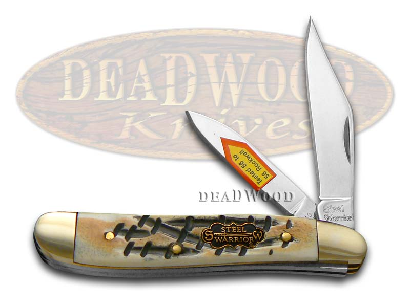 Steel Warrior Butter Rum Jigged Bone Peanut Pocket Knife Knives