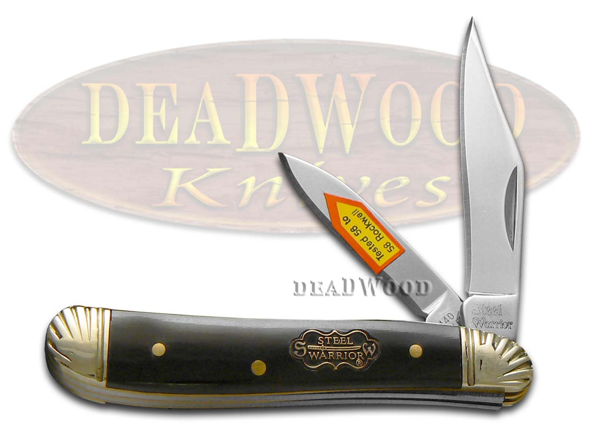 Steel Warrior Buffalo Horn Peanut Pocket Knife Knives