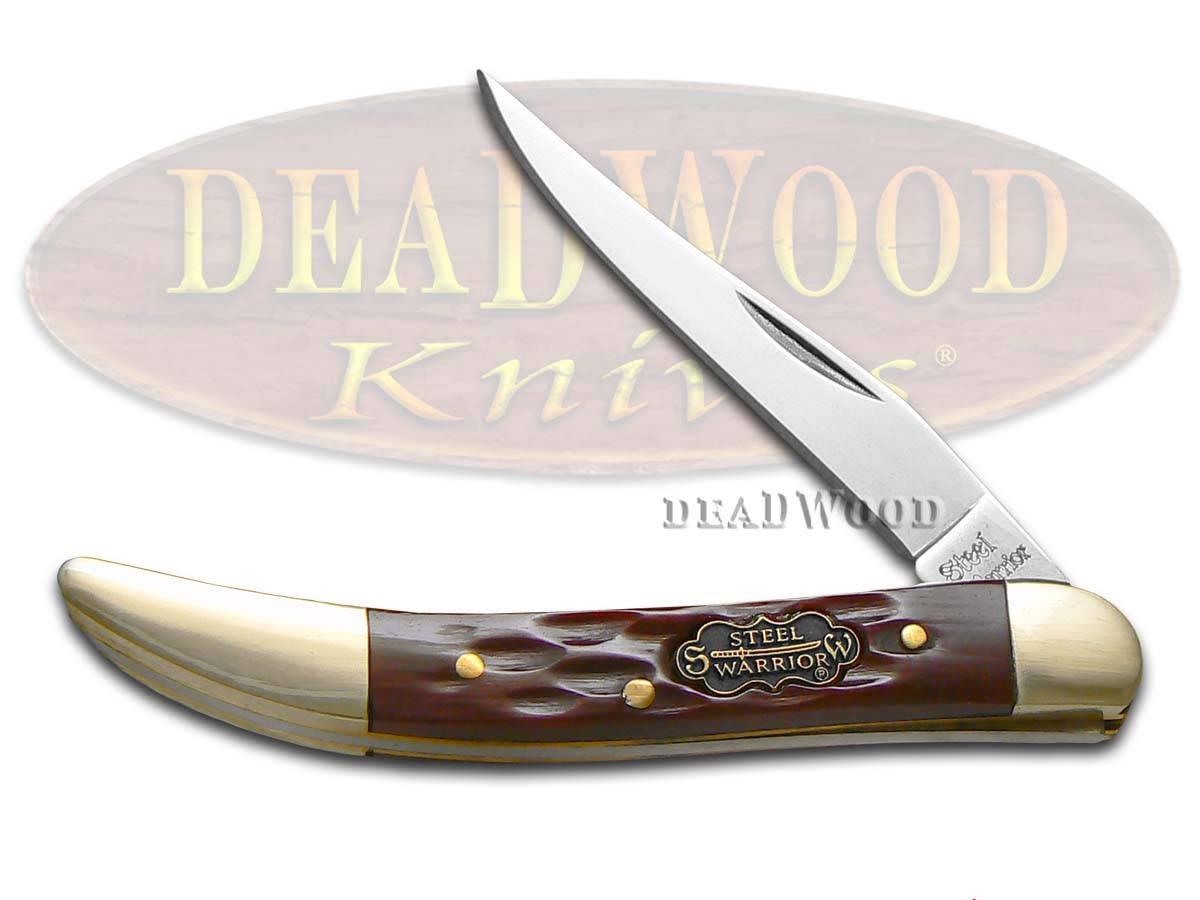 Steel Warrior Small Toothpick - Autumn Second Cut Jigged Bone Handles Pocket Knife Knives