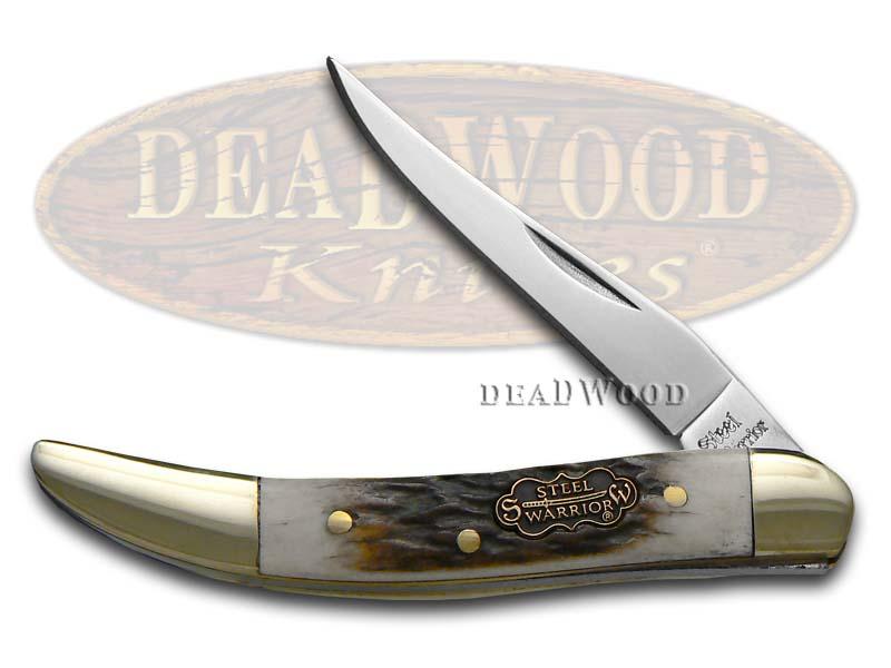 Steel Warrior Deer Stag Toothpick Pocket Knife Knives