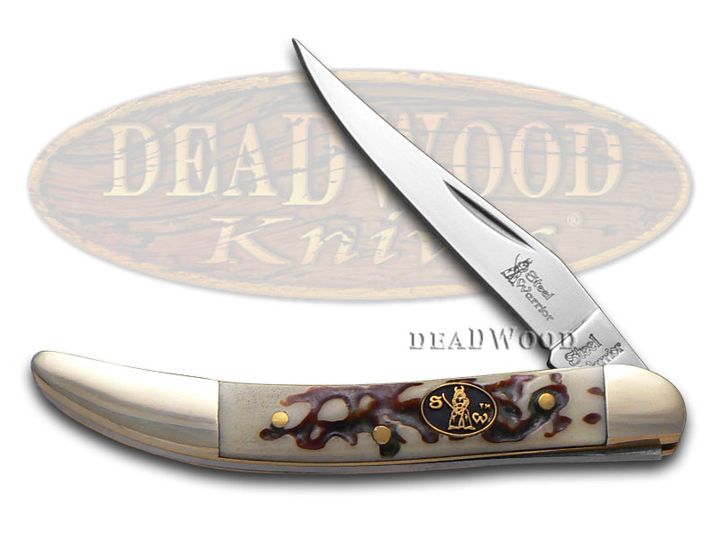 Steel Warrior Imitation Stag Small Toothpick Stainless Pocket Knife Knives