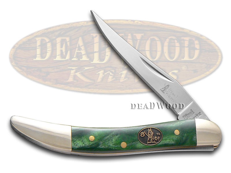 Steel Warrior Leaping Lizard Celluloid Small Toothpick Stainless Pocket Knife Knives