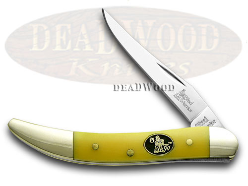 Steel Warrior Yellow Composite Toothpick Pocket Knife Knives