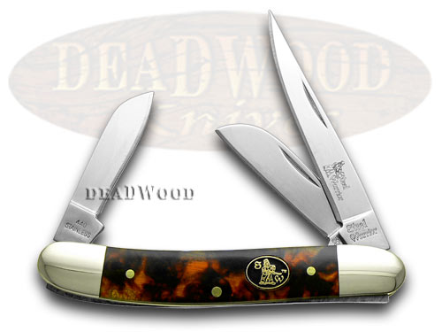 Steel Warrior Imitation Tortoise Shell Stockman Pocket Knife Knives