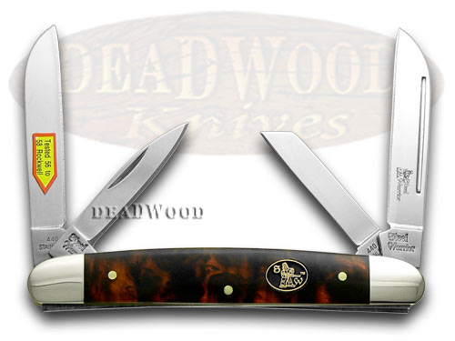 Steel Warrior Imitation Tortoise Shell Congress Pocket Knife Knives