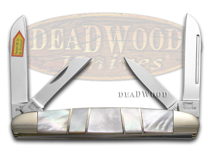 Steel Warrior Genuine Mother Of Pearl Congress Stainless Pocket Knife Knives