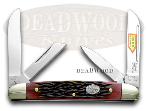 Steel Warrior Red Walnut Jigged Bone Congress Pocket Knife Knives