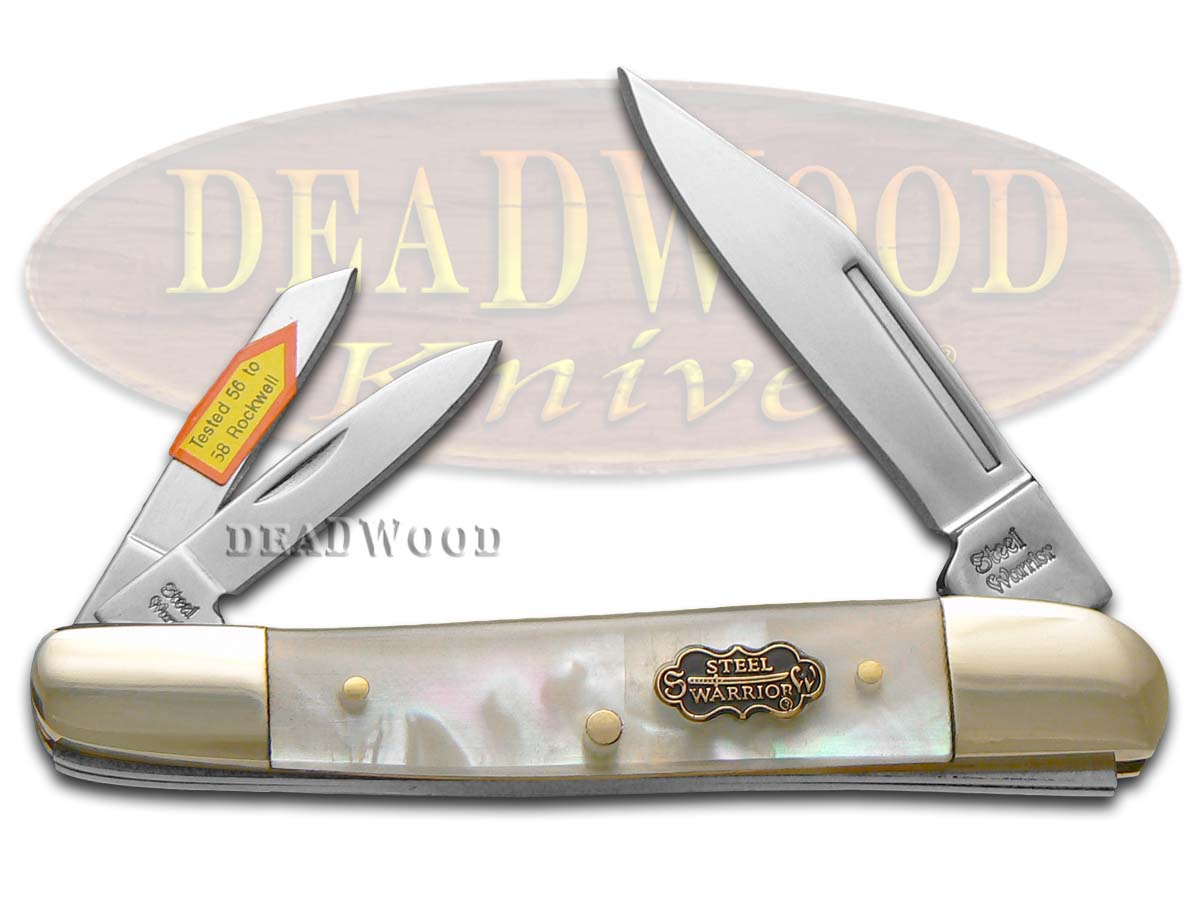 Steel Warrior Salt Water Mother Of Pearl Whittler Stainless Pocket Knife Knives