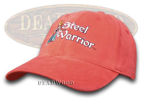 Frost Cutlery Steel Warrior Red 100% Cotton Hat Baseball Cap