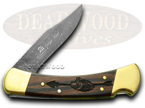 Buck 110 Chief Arrowhead 1/400 Yellowhorse Custom Pocket Knife Knives