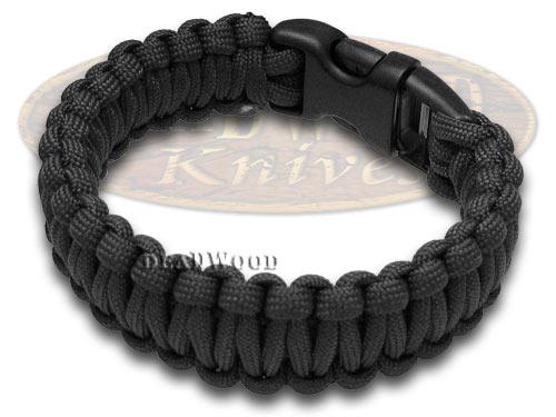 "Wilson Tac Black Paracord 9"" Nine Inch Survival Bracelet"