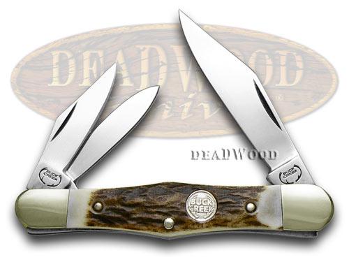 German Buck Creek Whittler Deer Stag Handles Pocket Knife