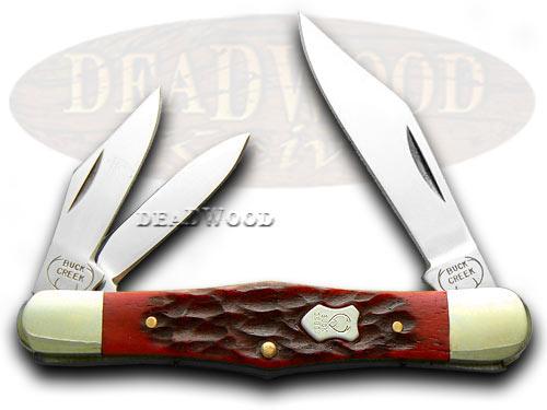 Buck Creek Red Pickbone Whittler Pocket Knife