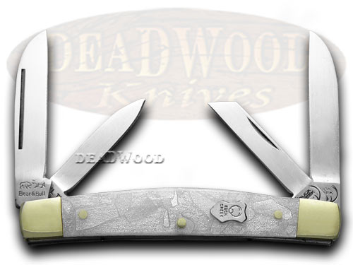 Buck Creek Cracked Ice Celluloid Congress Pocket Knife