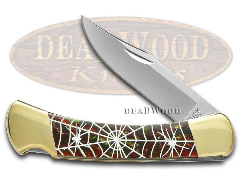 Buck 110 Custom Fire Mist Green Corelon Recluse 1/400 Pocket Knife