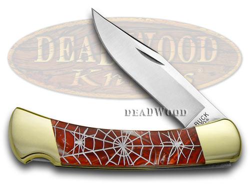 Buck 110 Custom Fire Feathers Corelon Recluse 1/400 Pocket Knife