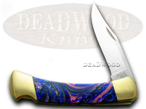 Buck 110 Custom Bubble Gum Corelon Folding Hunter Pocket Knife