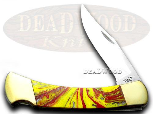 Buck 110 Custom Fire in Box Corelon Folding Hunter Pocket Knife