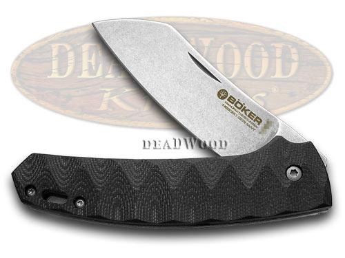 Boker Tree Brand Black G-10 Haddock Liner Lock Pocket Knife Knives