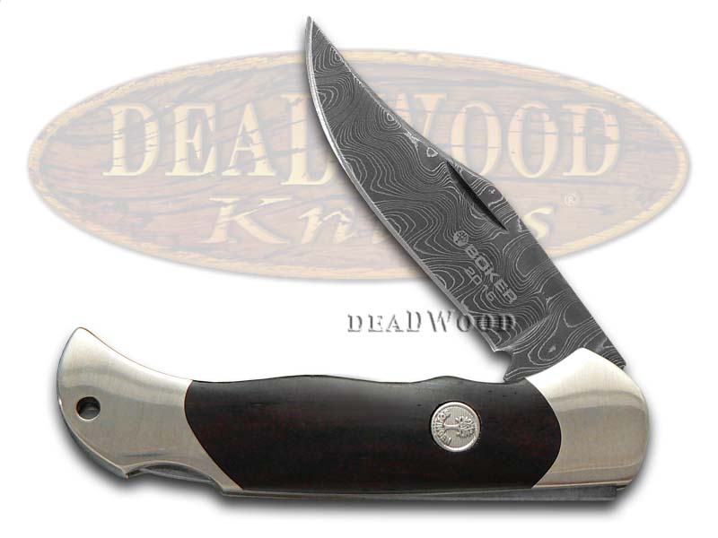 Boker Tree Brand 2016 Annual Damascus Grenadill Boy Scout Lockback 1/999 Pocket Knife