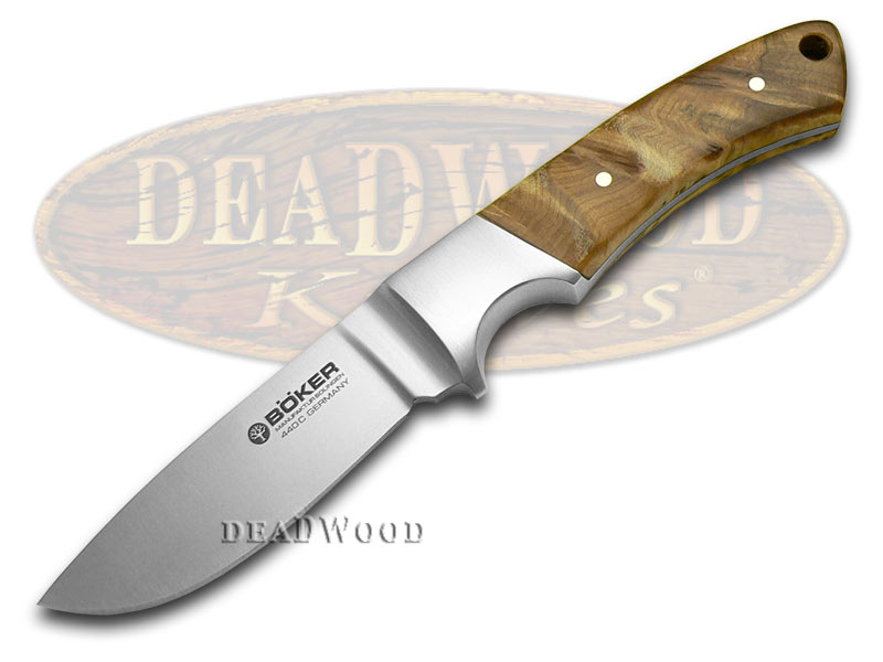 Boker Tree Brand Thuya Wood Integral Hunter Fixed Blade Knife Knives