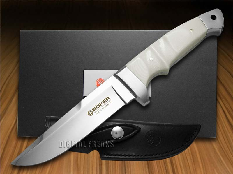 Boker 120585M Vollintegral White Micarta Fixed Knife 9.5