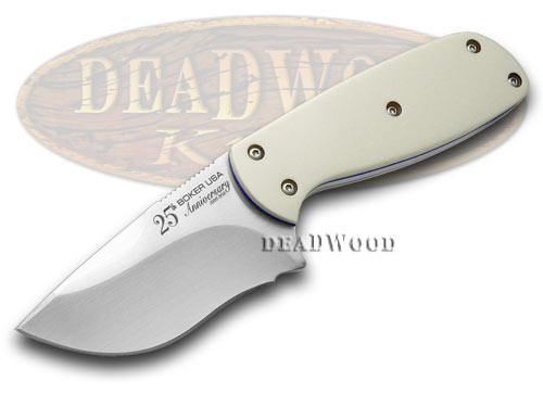 Boker Tree Brand 1/300 25th Anniversary White Micarta Fix Blade Knife