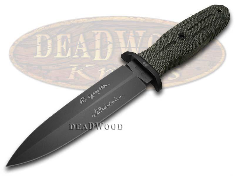 Boker Tree Brand Applegate 5.5 Black Micarta Fixed Blade 121545 Stainless Knife
