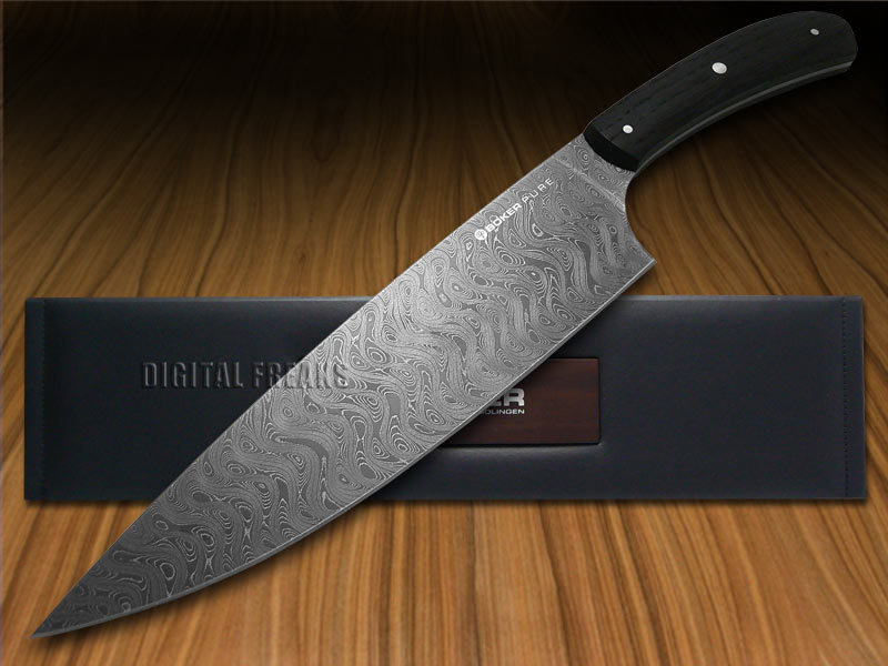 boker pure premium kitchen cutlery bog oak damascus chef 39 s knives knife ebay. Black Bedroom Furniture Sets. Home Design Ideas