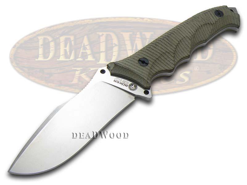 Boker Tree Brand Rough Green Micarta Buffalo Soul 42 Fixed Blade Stainless Knife Knives
