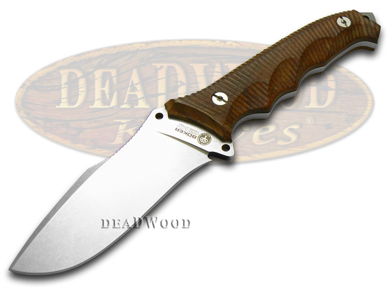 Boker Arbolito Guayacan Ebony Wood Buffalo Soul 42 Fixed Blade Stainless Knife