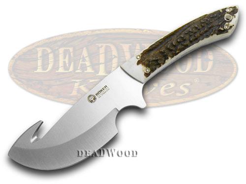 Boker Arbolito Genuine Deer Stag Gut Hook Fixed Blade Knife