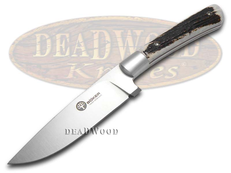 Boker Tree Brand Deer Stag Nicker Fixed Blade Stainless Hunting Knife Knives