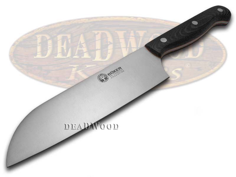 Boker Arbolito Kitchen Cutlery Black Micarta Santoku Full Tang Stainless Knife