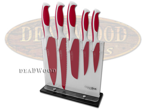 Boker ColorCut Raspberry Red Stainless Kitchen Cutlery Set Knife