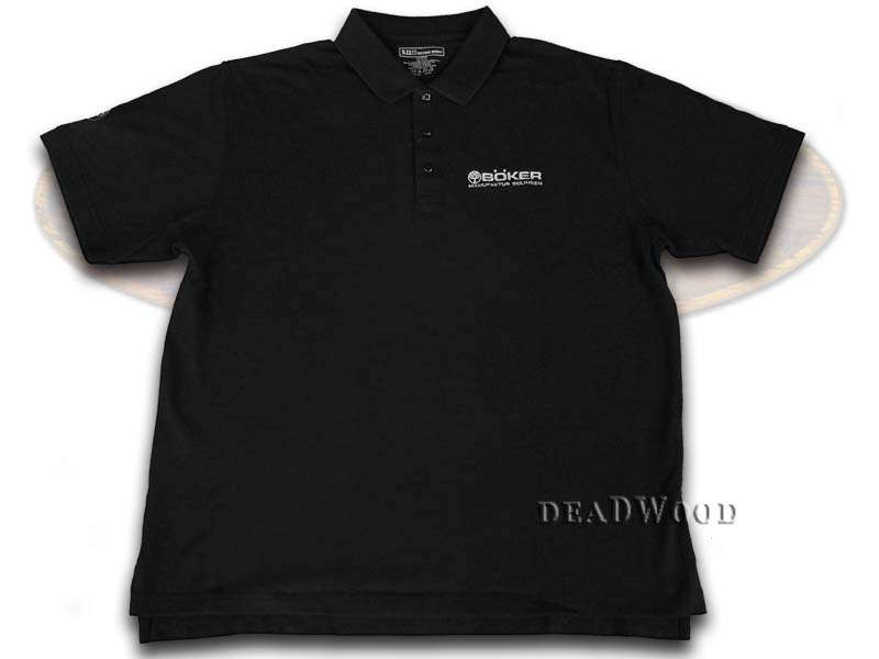Boker Tree Brand 5.11 Black Cotton Large Polo Shirt