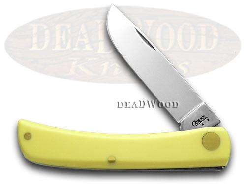 Case XX Yellow Synthetic Sodbuster CV Pocket Knife Knives