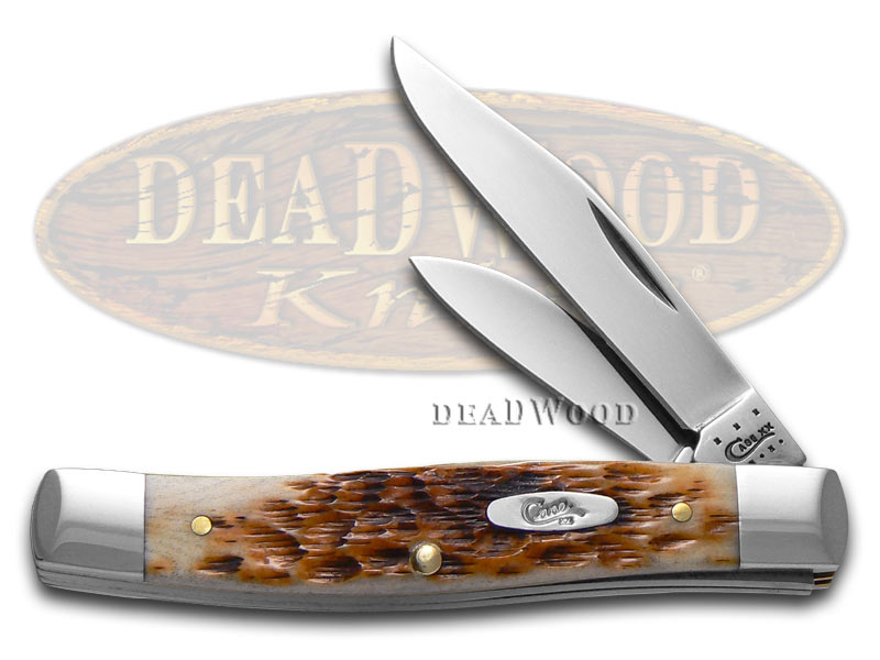 Case XX Jigged Amber Bone Small Texas Jack Chrome Vanadium Pocket Knife