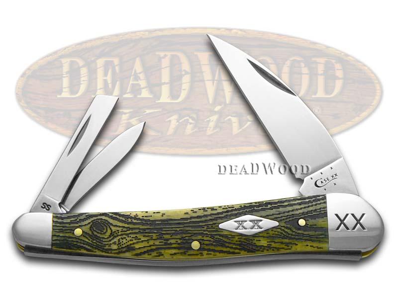 Case XX Wood Grain Olive Green Seahorse Whittler 1/500 Stainless Pocket Knife