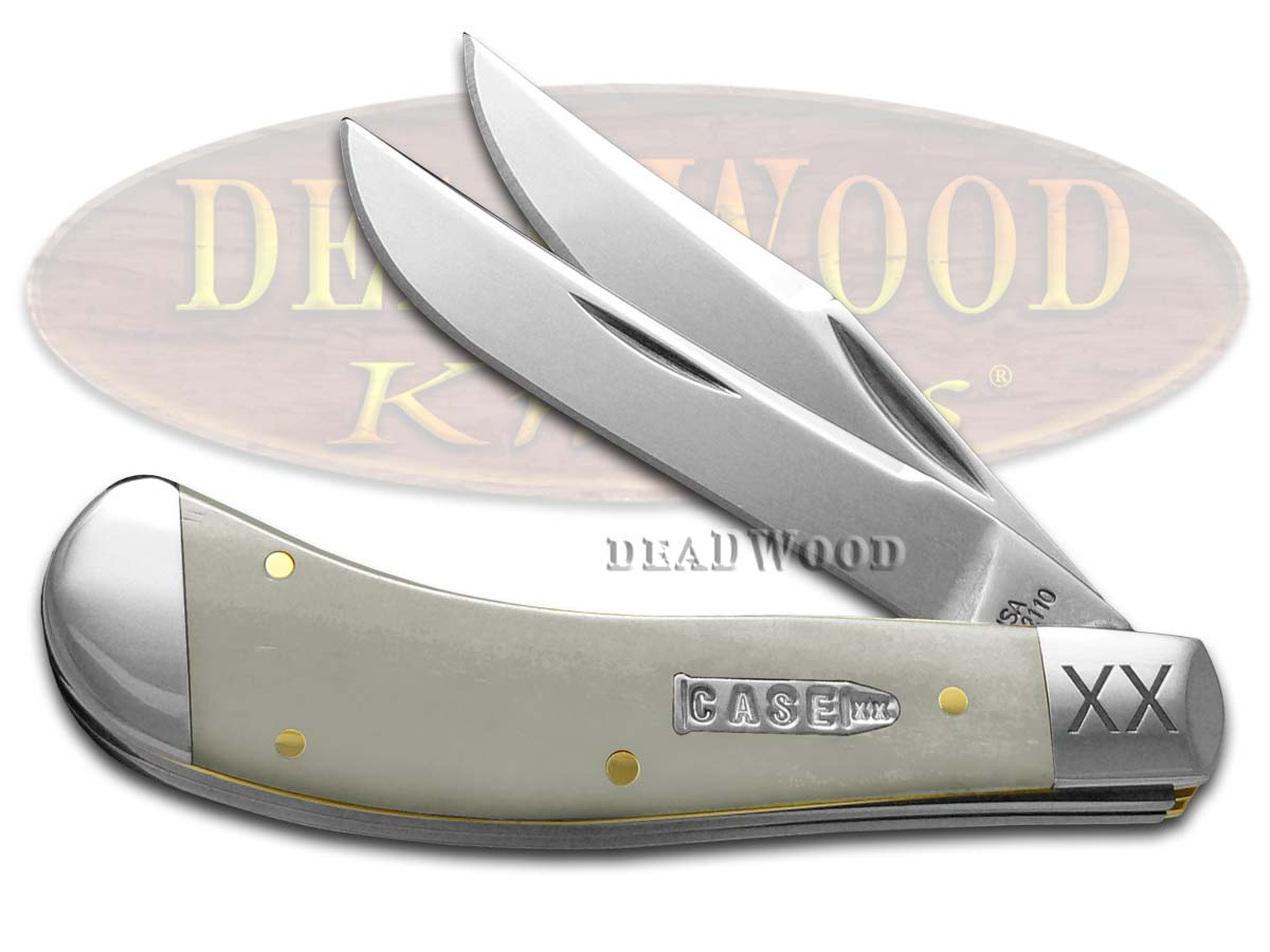 Case XX Smooth Natural Bone Saddlehorn 1/500 Stainless Pocket Knife