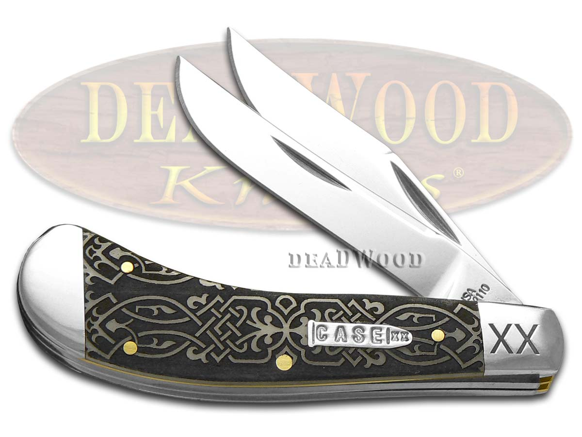Case XX Celtic Knot Natural Bone Saddlehorn 1/500 Stainless Pocket Knife