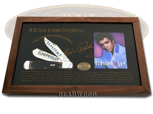 Case XX Cabernet Bone 1/100 Swell Center Jack Elvis Presley Pocket Knife Knives