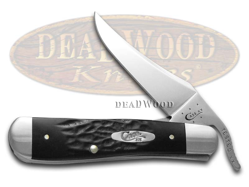 Case XX Rough Black Synthetic Russlock Stainless Pocket Knife Knives