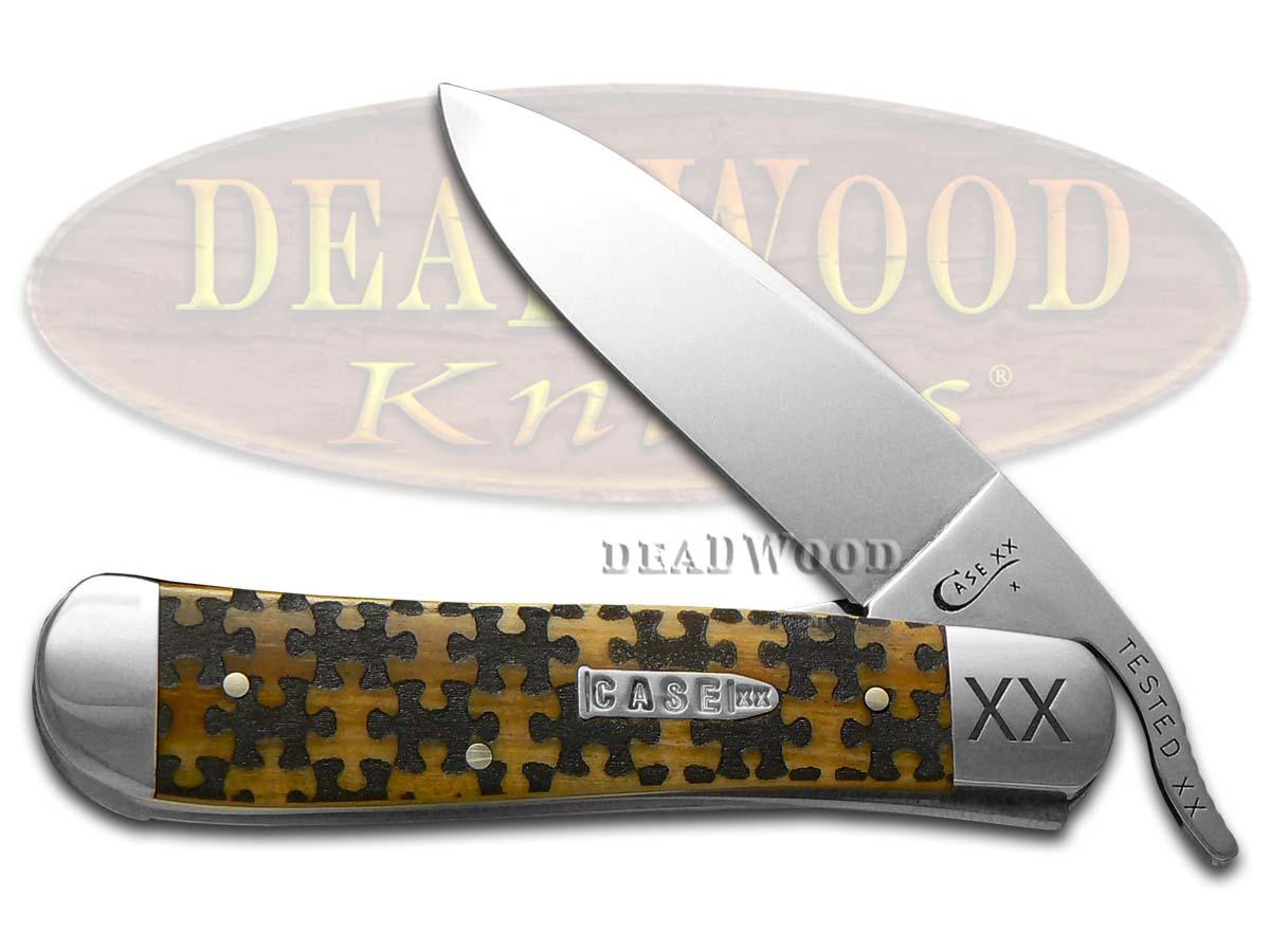 Case xx Russlock Knife Puzzle Pieces Antique Bone 1/500 ...