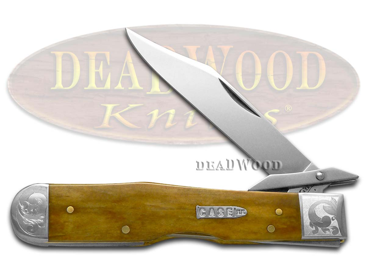 Case XX Smooth Antique Bone Cheetah 1/300 Stainless Pocket Knife