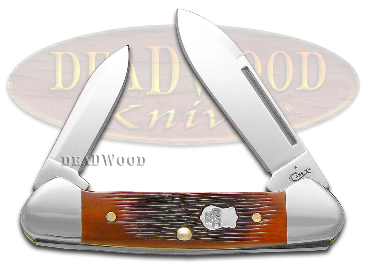 Case XX Barnboard Jigged Chestnut Bone Butterbean Stainless Pocket Knife Knives