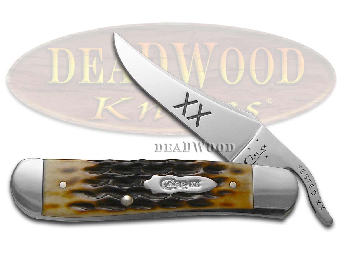 Case XX Jigged Molasses Bone Russlock Stainless Pocket Knife Knives