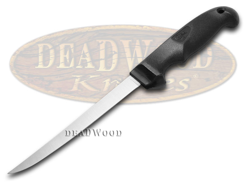 """Case XX Kitchen Cutlery Black Synthetic 6"""" Stainless Hunter's Fillet Knife"""