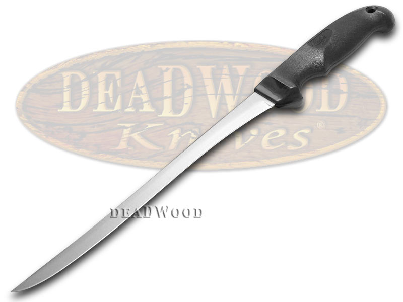 """Case XX Kitchen Cutlery Black Synthetic 9"""" Stainless Hunter's Fillet Knife"""